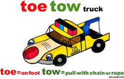 A toe tow truck