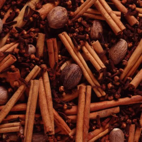 Use 4 black peppercorns, 1 stick cinnamon, 6 cloves, and 1-inch ginger peeled and sliced.