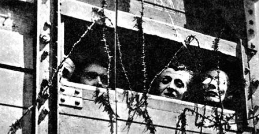 Jewish captives on their way to Treblinka, 1942