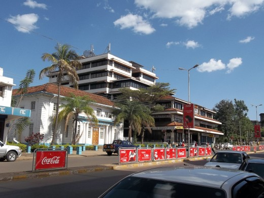 Striking architecture on Oginga Odinga Street