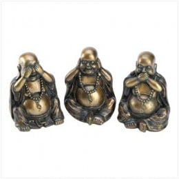 See no evil, hear no evil, speak no evil, Buddha