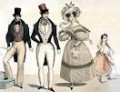 "Fashions of the 1830s. Unlikely to have been worn for the war; more likely to be worn ""back East."""