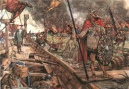 West Norse plunder of Dorestad, a Frankish North Sea trading port in Frisia - raiding the Frankish trading centres made sailing trading ships hazardous, and merchants would not be willing to lose their wares - their livelihood, after all!