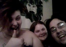 Morganna, Me and Daniel just having fun