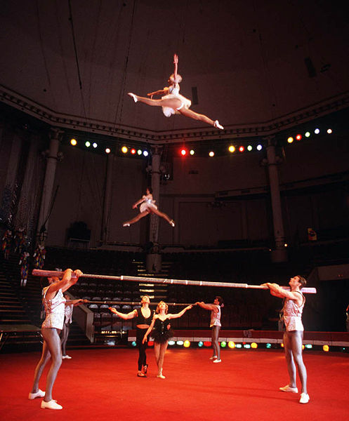 Russian circus performers were considered to be stars in Russia.