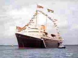 "The Royal ""Yacht"" Britannia in better days"
