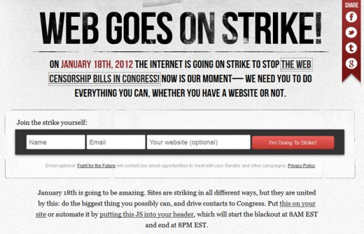 Web Goes On Strike Poster