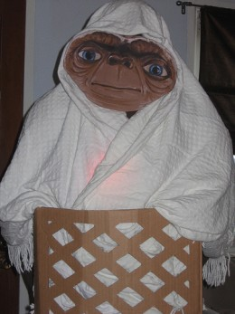 """""""If ET was around now he wouldn't have to wear a sheet over his head. He could come as himself."""""""