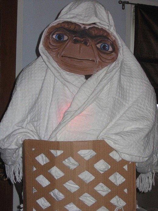"""If ET was around now he wouldn't have to wear a sheet over his head. He could come as himself."""
