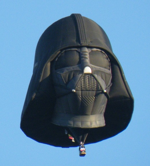 A Darth Vader balloon. This one may be too big to tie onto the picnic table.
