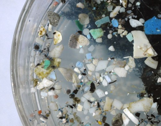 garbage patch plastic particles