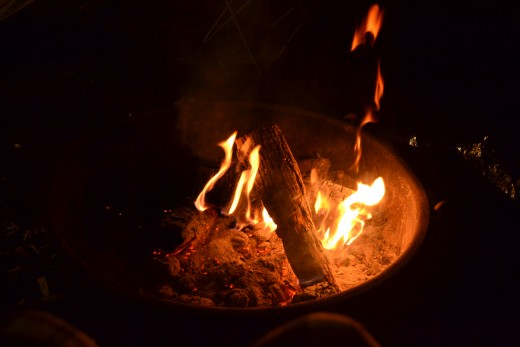 The campfire which the conversation took place