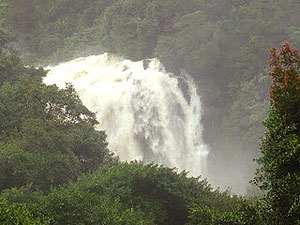 Galaboda Falls in the rainy season.