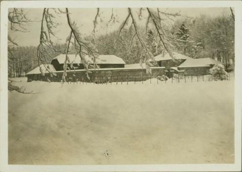 Snow scenes at Perham Downs Camp - Salisbury Plains