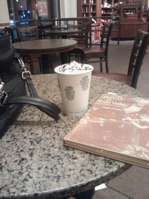 "My ""spot"" is anywhere I can read with a yummy coffee."