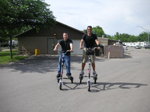 Two Trikke riders