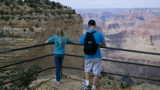 Our kids on our GrandCanyon vacation, October 2010