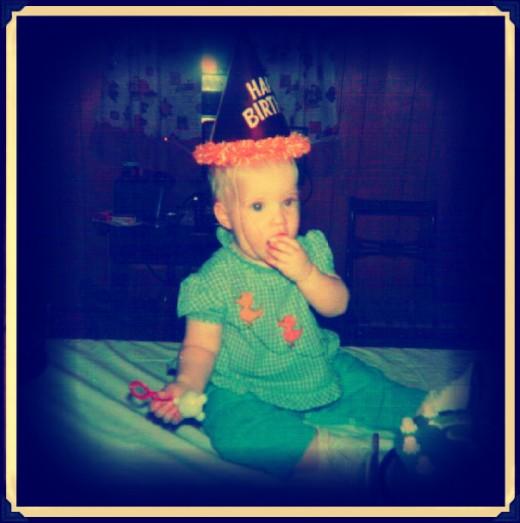 My 1st birthday.