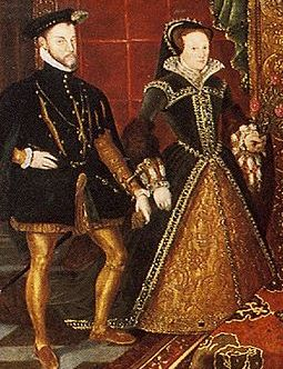 Queen Mary I and her husband Philip of Spain.
