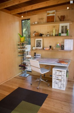 This Upgraded Cabana interior shows the cool bamboo flooring.