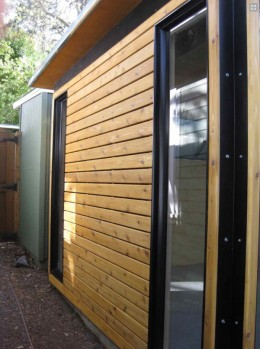 Even the Functional Cabana features full-height windows, allowing in plenty of outside light.