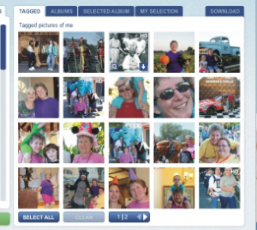 Pick and Zip will show you all your tagged photos so you can download tagged photos from Facebook