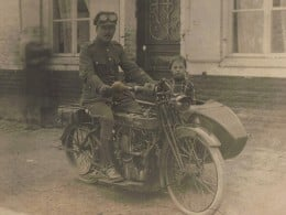 The motorcycle widely used by the British in World War I