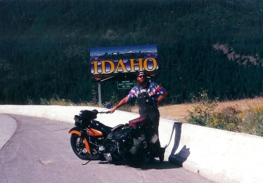 The old man in tie die at the Idaho border