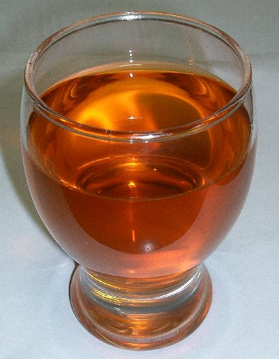 Rooibos tea in a glass