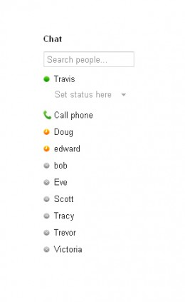 The Chat feature is located along the left side of your Gmail home page.