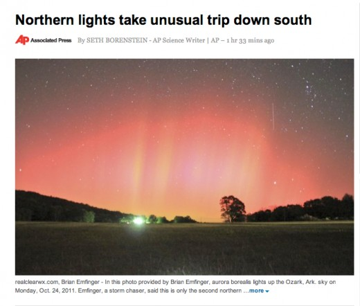 Northern lights in Arkansas, c'mon people how is this a conspiracy.
