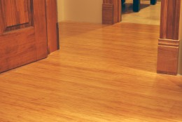 Installed click engineered bamboo floors from Bambooimporters.com