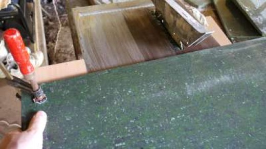 2. Here is how to cut a wide tile on a small machine.