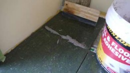 14. Use the squeegee and work the grout deep into the gaps.