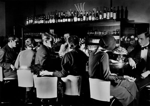 A Speakeasy in the 1920's
