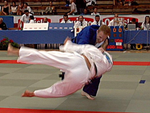 Judo Throw Source:  http://upload.wikimedia.org/wikipedia/commons/0/00/Judothrow.jpg