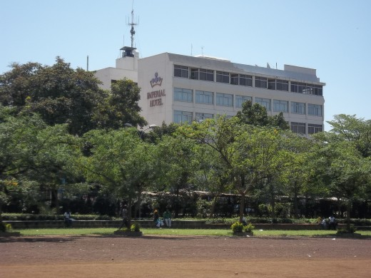 The Imperial viewed from Jomo Kenyatta recreation park. Expect to pay a princely sum.