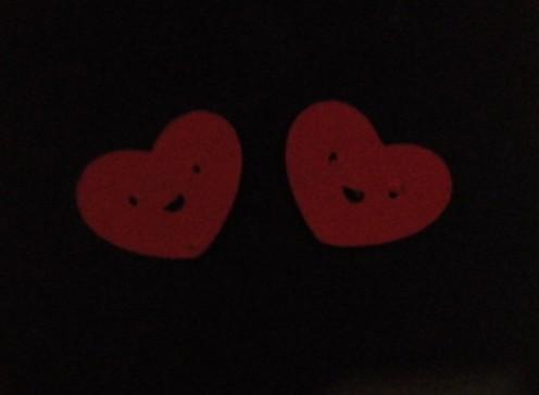 Extra Hearts cut with Cricut