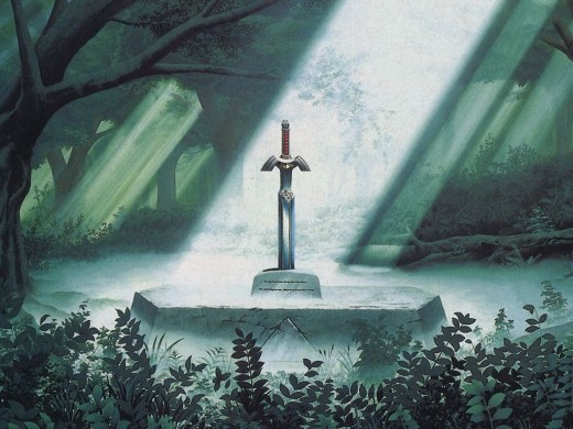 The Master Sword in the Pedestal of Time