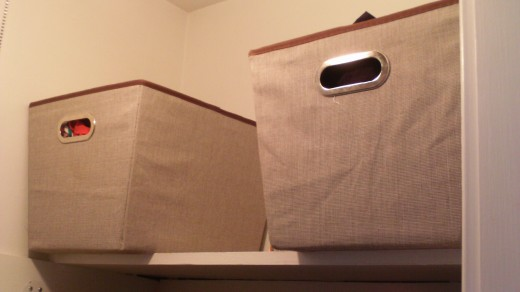 His and Hers undies bins! (Notice that there is still space on that shelf?)