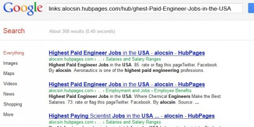 Backlinks search example.