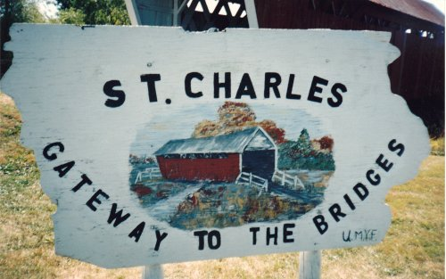 "For accuracy's sake, St. Charles is only the ""gateway to the bridges"" if you're coming into Madison County from Interstate 35 (see map above) at the eastern edge of the county."