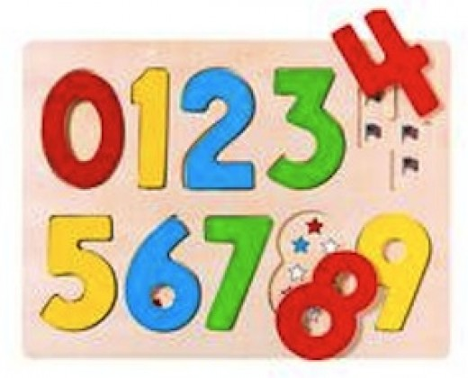 This puzzle is similar to the one my daughter had for learning numbers and their order.