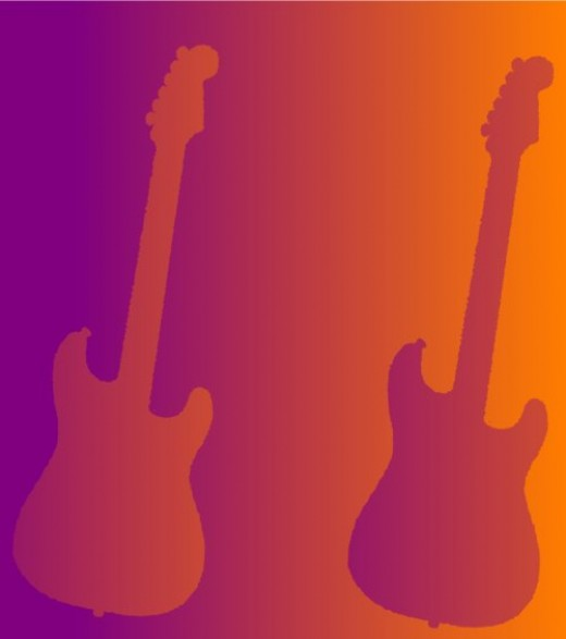 I created this image on my computer and I can promise you that that I did not doctor the colors for effect. The two guitars are exactly the same image. You can try this yourself.