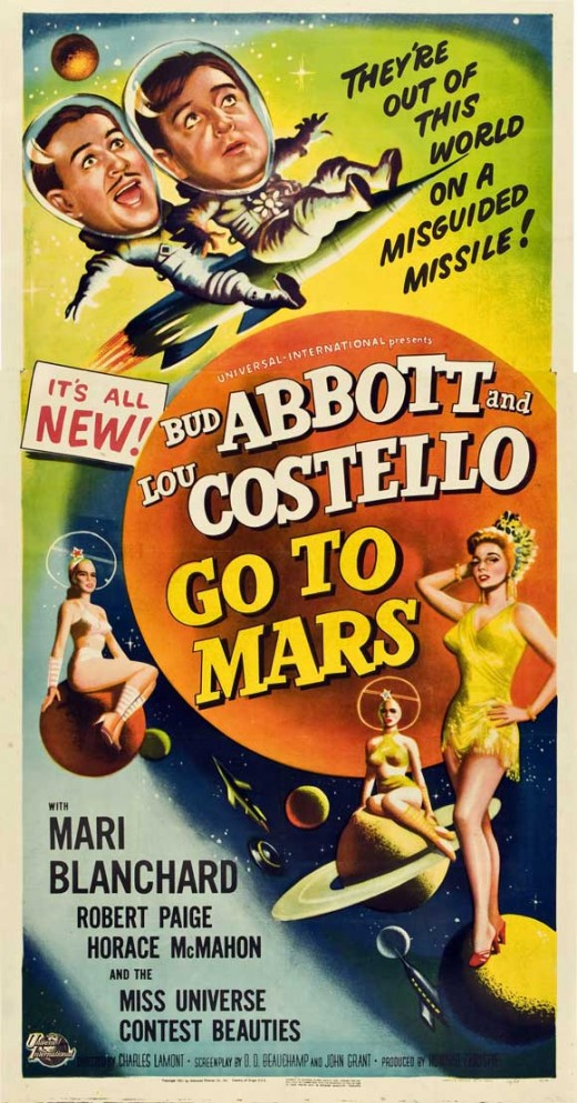 Abbott and Costello go to Mars - poster