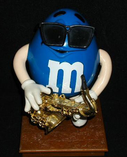 My parents got me things like this: A giant plastic M&M man playing the saxophone. I think my obsession with Bill Clinton fueled this Valentine's Day present.