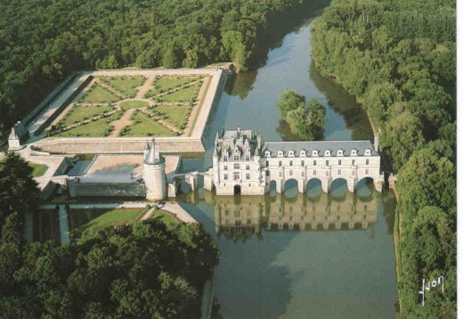 The property consists of the chateau itself, a gallery across the river and a tower known as Tour des Marques guarding the entrance.