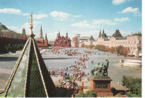 The famous Red Square from a different angle.