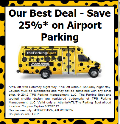 Atlanta parking spot coupon