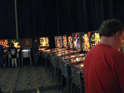 Here's why you go:  Pinball Machines on Free Play!